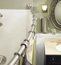 Brushed Nickel Adjustable, Bathroom Curved Shower Rod 54 in, - 72 in, (MOEN)