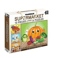 Set of 4 - 25 X 20 cm Jigsaw Puzzle for Kids Age 3 - 5 Yrs, Brain Games Toys