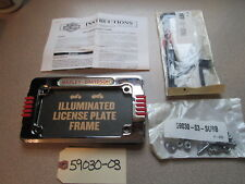 Harley Davidson Illuminated License Plate Frame Kit P/N 59030-30