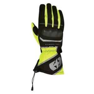 Oxford Montreal Waterproof  Motorcycle Gloves Black yellow  Mens size Small