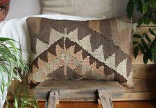 (40*60cm, 16*24cm) Handwoven Vintage kilim cover - Undyed natural wool browns