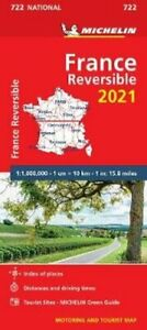 France - reversible 2021 - Michelin National Map 722 Maps 9782067250017