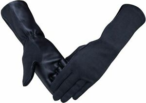 Nomex & Lambskin Genuine Leather Pilot Tactical Flight Gloves Black,Green