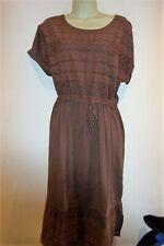 NEW STUNNING  LADIES  BROWN  SUMMER  BRODERIE  DRESS  SIZE 20