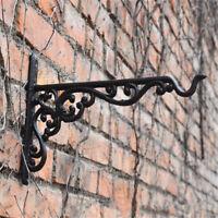 Cast Iron Garden Hanging Basket Hook Bracket Planter Wall Ornate Decorative New