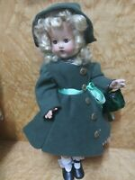 22 inch 1940s composition doll with mohair original wig