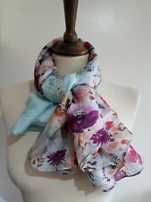 """Brand New Accessorize Floral 100% Silk Head Scarf / Scarf (approx 80"""" x 70"""")"""