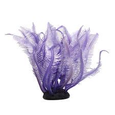 Purple Artificial Fake Coral for Fish Tank Decoration Ornament I4S2