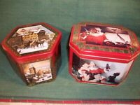 COCA COLA & MADE in  GERMANY Vintage Holiday Tins lot of 2