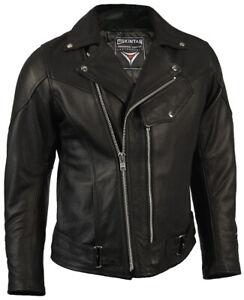 Leather Motorcycle Motorbike Jacket Biker Black Brando - Skintan