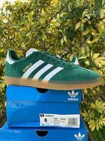 Adidas Originals Gazelle Green Leather Suede Casual Sneakers Men's size 8 DA8872