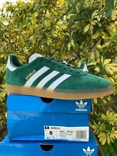 Adidas Originals Gazelle Green Leather Suede Casual Sneakers Men's size 8 DA8872