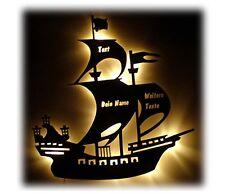Piratenschiff Lampe Nachtlicht mit Name nach Wunsch - Geschenke Taufe & Geburt