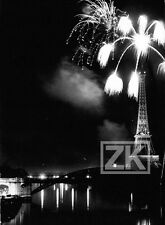 FEUX D'ARTIFICE 14 Juillet TOUR EIFFEL Paris Seine 1964