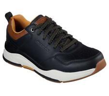 Skechers Uomo Vestibilità Comoda: Benago - Treno Sportivo Sneakers IN Nero