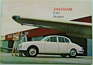Jaguar 240 1967-68 Original UK Prestige Sales Brochure