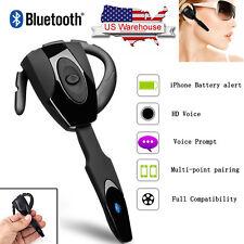 Wireless Handsfree Earbud Bluetooth Headphone Microphone For Motorola iPhone Htc