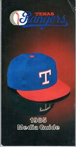1985 Texas Rangers Media Guide