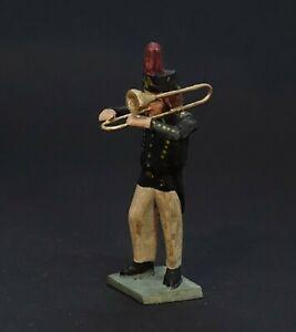 Grulicher Krippenfigur, Bergmann, Musikant mit Trompete > 7 cm < (# 13908)