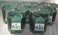 6 Glade Balsam Fir & Juniper 3.8 oz Be At Peace Winter Collection Glass Candles