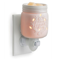 Porcelain Mason Jar Wax Tart Oil Warmer, Electric, Plug-in, Melter, New, Country