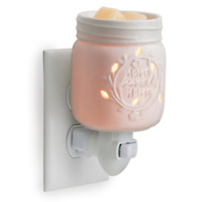 Porcelain Mason Jar Wax Tart Oil Warmer, Electric, Plug-in, Melter, New
