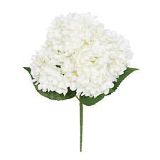 Artificial Silk Hydrangea Bush 5 Stems 40cm Cream