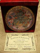 """P Buckley Moss Christmas Plates """"Christmas Angels"""" Signed/Number 342/5000 NEW"""