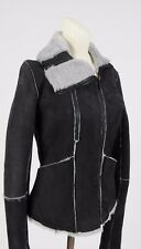 NEW Truth and PRIDE Genuine Shearling Fur Coat Jacket Reversible size S Women's