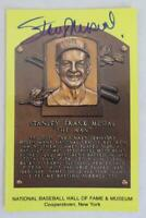 Original Authentic STAN MUSIAL Signed Autograph HOF Plaque Postcard Baseball