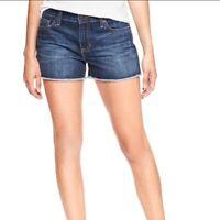 Gap Women's Denim Shorts Size 2/26 Sexy Boyfriend Short Short Frayed Hem