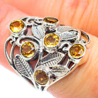 Citrine 925 Sterling Silver Ring Size 7.5 Ana Co Jewelry R53801