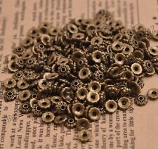 100Pcs Tibetan Silver Flower Bead Caps Spacer beads Charm Findings 6MM Z3081