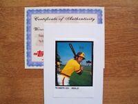 2003 Topps Tribute Match Print Photo Ozzie Smith #26 San Diego Padres with COA