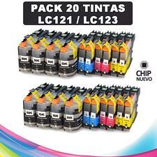 20 Cartuchos compatibles NonOem BROTHER LC121 XL MFC-J6920DW MFC-J870DW