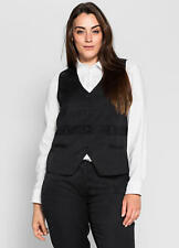 SHEEGO BLACK WAISTCOAT SIZE 20 NEW WITH TAG