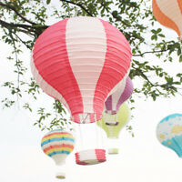 12''Paper Hot Air Balloon Lantern Lampshade Light Christmas Xmas Party Decor AUS