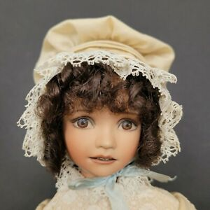 Extremely Rare Dianna Effner Faith Doll Bisque Wildflowers Series #19/100 COA