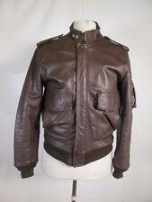VTG Bomber Cuir Motorcycle Biker Leather Jacket Size 36 09753