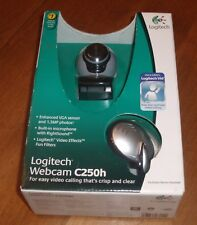 NIB Logitech Webcam Camera C250h - For Easy Video Conferencing and Calls