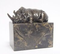 9973468-dss Escultura de Bronce Figura Figura Rinoceronte 8x14x14cm
