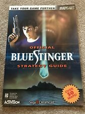 Bradygames Official Blue Stinger Strategy Guide Sega Dreamcast Activision