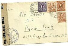 1947 stuttgart germany mil. cen. civil mails cover to bronx new york