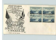 U.S. and Canada, 100 Years Peace & Cooperation, 1948 Bl/4 Niagara Falls