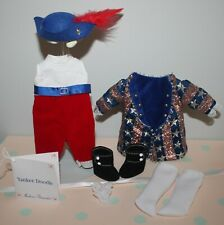 """New Listing8"""" Madame Alexander Ma Sparkly outfit tagged Yankee Doodle with feathered cap"""