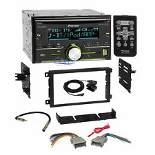 Pioneer Bluetooth Sirius Stereo 2Din Dash Kit Harness for 92+ Chevy GMC Pontiac