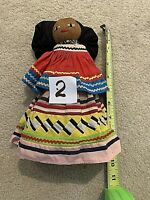 "Antique Seminole Palm Fiber, Patchwork Doll 1930-40s.10"" #2"