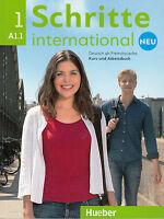 Hueber SCHRITTE INTERNATIONAL NEU 1 Kursbuch + Arbeitsbuch A1.1 mit CD @NEW@
