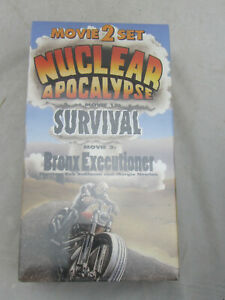 NEW - Nuclear Apocalypse: Survival / Bronx Executioner 2 Movie Set (VHS, 1995)