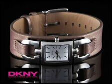 DKNY LADIES LUXURY DRESS WATCH TAUPE LEATHER BAND NY9127